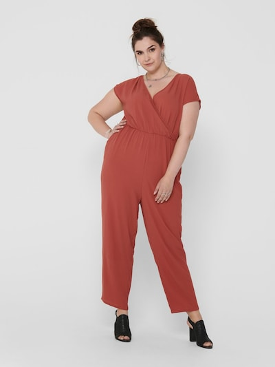 ONLY Carmakoma Jumpsuit in rot, Modelansicht