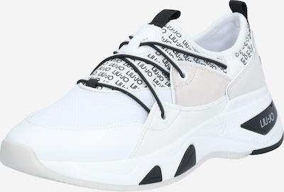 Sneaker bassa Liu Jo di colore crema / nero / bianco, Visualizzazione prodotti