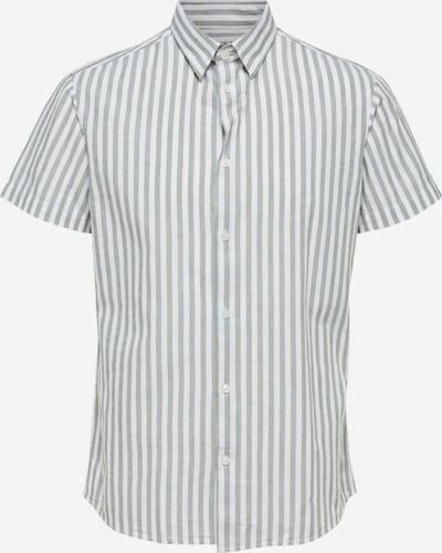 SELECTED HOMME Hemd in grün / weiß, Produktansicht