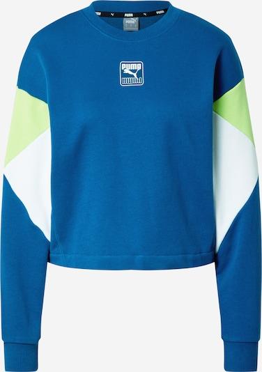 PUMA Bluzka sportowa 'Rebel' w kolorze niebieski / kiwi / białym, Podgląd produktu