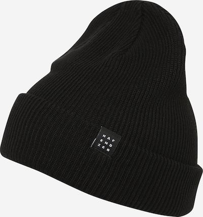 Hafendieb Muts 'Logo Block Beanie' in de kleur Zwart, Productweergave