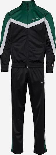 Treniruočių kostiumas iš Champion Authentic Athletic Apparel , spalva - žolės žalia / juoda / balta, Prekių apžvalga