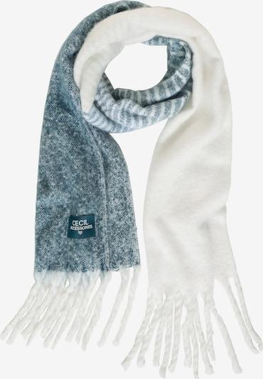 CECIL Schal in blaumeliert / weiß, Produktansicht