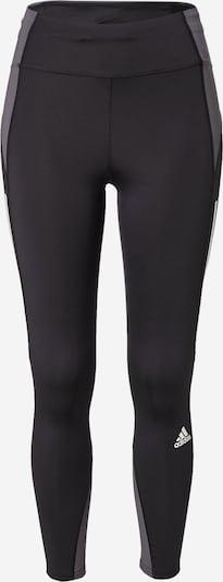 ADIDAS PERFORMANCE Παντελόνι φόρμας 'Own The Run' σε γκρι / μαύρο / λευκό, Άποψη προϊόντος
