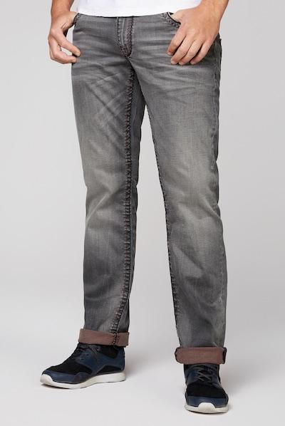 CAMP DAVID Jeans CO:NO mit zweifarbigen, breiten Nähten in grau, Modelansicht