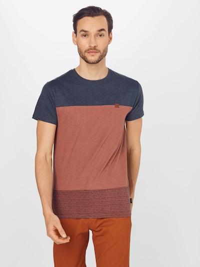 INDICODE JEANS Тениска 'Hammond' в нейви синьо / ръждиво кафяво, Преглед на модела