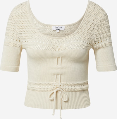 LeGer by Lena Gercke Tops en tricot 'Raquel' en beige, Vue avec produit