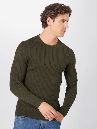 JACK & JONES Pullover in dunkelgrün: Frontalansicht