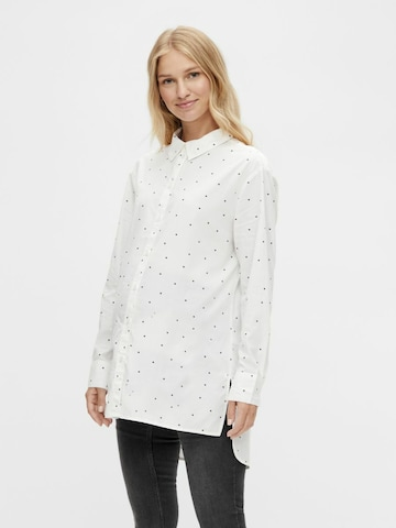 MAMALICIOUS Bluse 'MELOISE' in Weiß