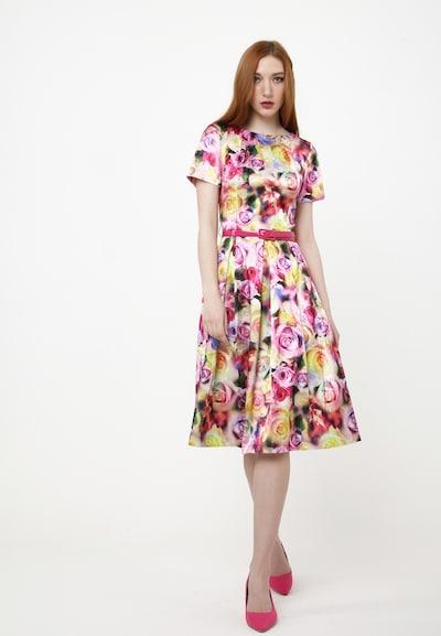 Madam-T Sommerkleid 'PORTALEGRO' in gelb / pink, Modelansicht