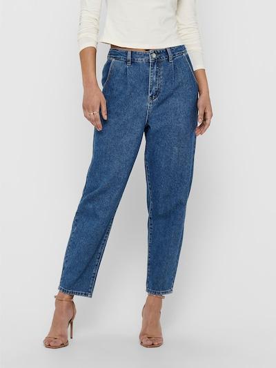 Pantaloni cu cute ONLY pe albastru denim, Vizualizare model