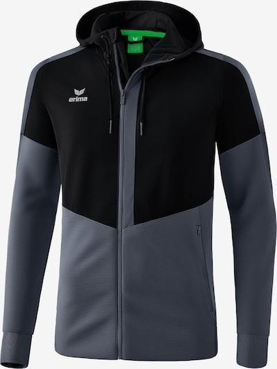 ERIMA Trainingsjacke in graumeliert / schwarz: Frontalansicht