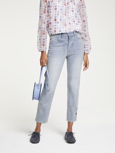 heine Jeans in royalblau / hellblau / kirschrot / weiß, Modelansicht