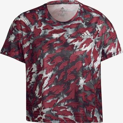 ADIDAS PERFORMANCE Sportshirt 'Primeblue Fast Graphic' in hellgrau / dunkelgrau / dunkelrot, Produktansicht