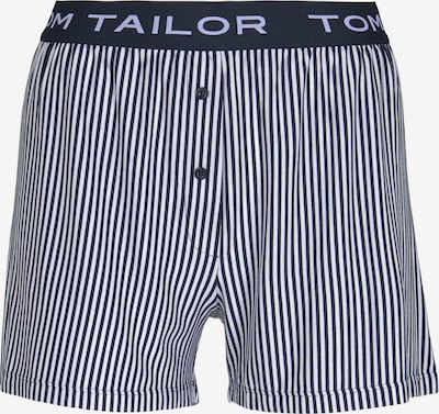 TOM TAILOR Bodywear Gestreifte Pyjamashort in blau / weiß, Produktansicht