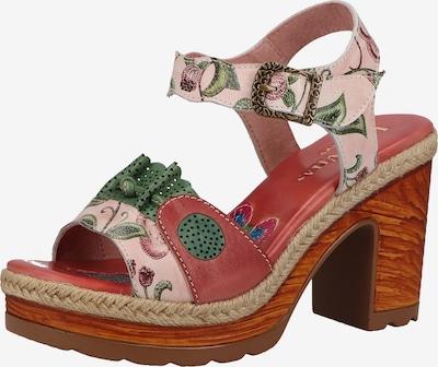 Laura Vita Sandale 'Jacao' in smaragd / mischfarben / rosa, Produktansicht