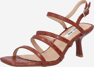 Sandale cu baretă NA-KD pe maro, Vizualizare produs