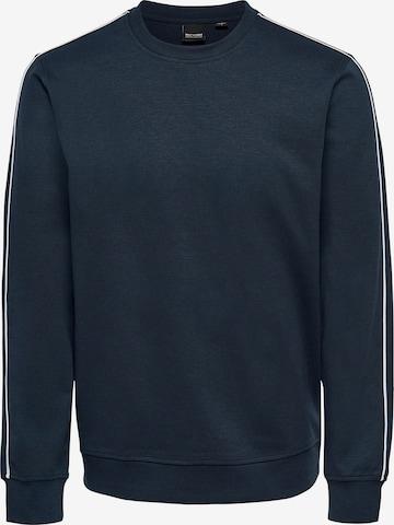 Only & Sons Sweatshirt 'Freman' in Blau