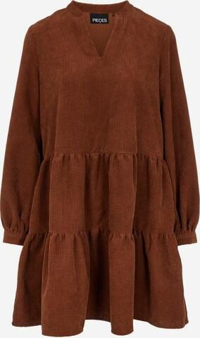 PIECES Kleid in Braun