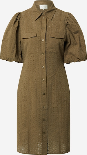 SECOND FEMALE Robe-chemise 'Bilbao' en olive, Vue avec produit