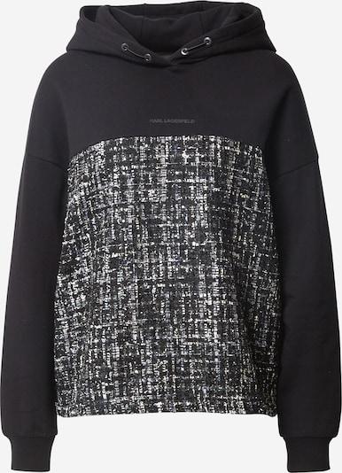 Karl Lagerfeld Sweater majica 'Boucle' u crna / crna melange, Pregled proizvoda