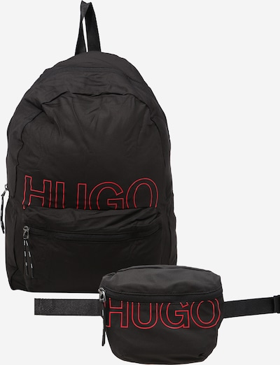 Rucsac HUGO pe roșu / negru, Vizualizare produs