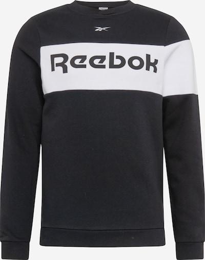 REEBOK Sporta svīteris melns / balts, Preces skats