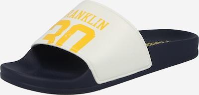 FRANKLIN & MARSHALL Pantolette in navy / limone / weiß, Produktansicht