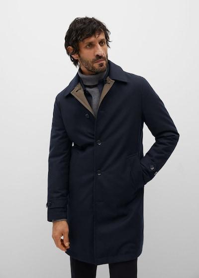 MANGO MAN Tussenjas 'Gable' in de kleur Navy, Modelweergave