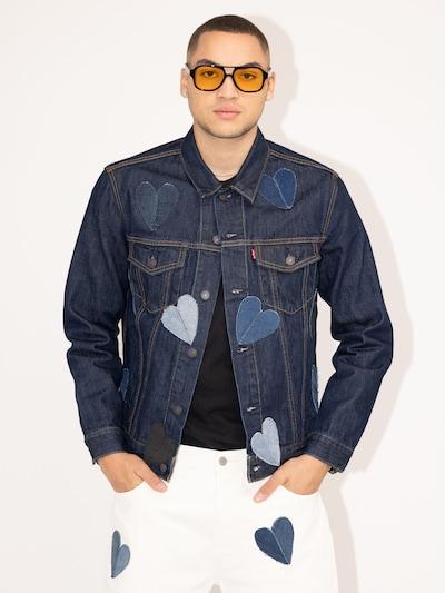 Levi's® Upcycling Jeansjacke 'Kelvyn Colt Design' in dunkelblau: Frontalansicht