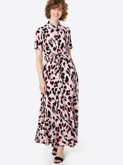 Y.A.S Košulja haljina 'LIRO' u roza / puder roza / crvena / crna, Prikaz modela