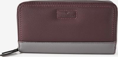 TOM TAILOR Portemonnaie in braun / grau: Frontalansicht