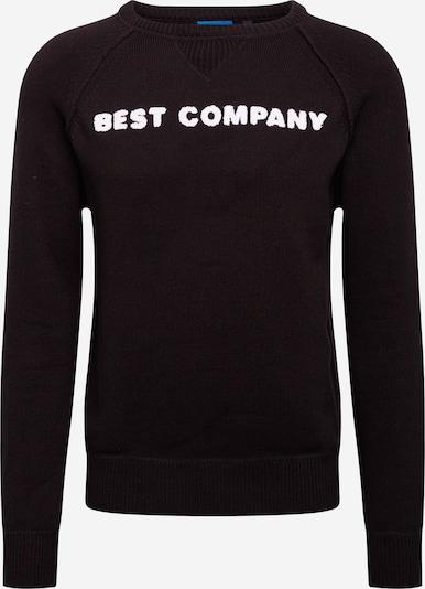 Best Company Pullover in schwarz / weiß, Produktansicht