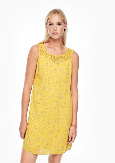 s.Oliver Kleid in gelb / grün / rot / weiß, Modelansicht