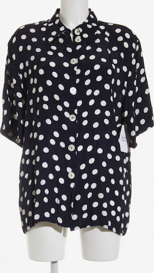 KS. selection Kurzarm-Bluse in L in dunkelblau / weiß, Produktansicht