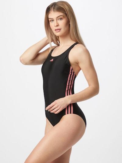 Costum de baie sport ADIDAS PERFORMANCE pe roze / negru, Vizualizare model