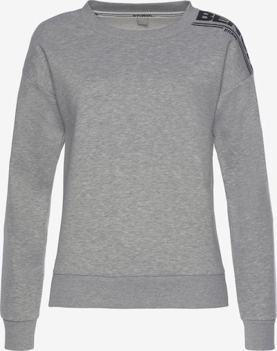 BENCH Sweatshirt in graumeliert / schwarz, Produktansicht