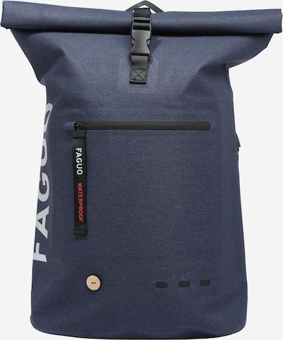 FAGUO Rucksack in taubenblau / schwarz / weiß, Produktansicht