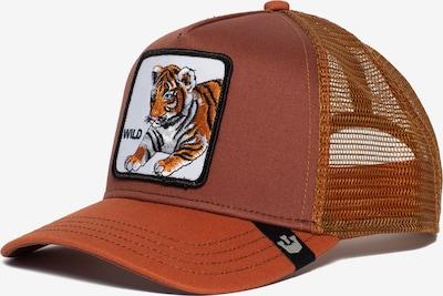 Cappello da baseball 'Wild Kitty' GOORIN Bros. di colore marrone / colori misti / arancione chiaro / arancione scuro / bianco, Visualizzazione prodotti
