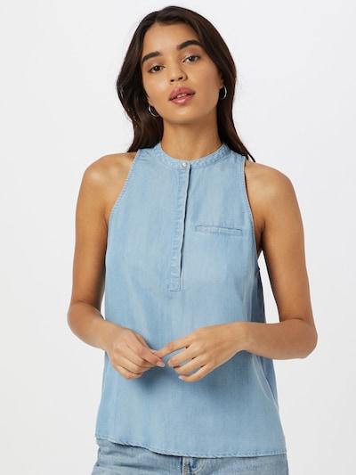 Superdry Bluse in hellblau, Modelansicht