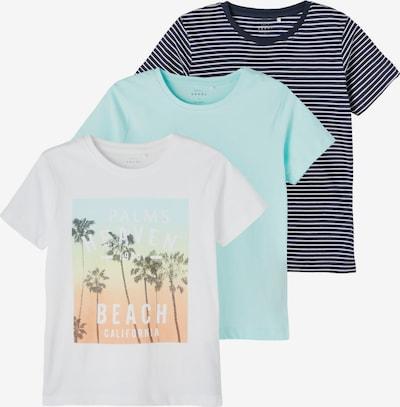NAME IT T-Shirt 'VEDANNY' in nachtblau / aqua / mischfarben / weiß, Produktansicht