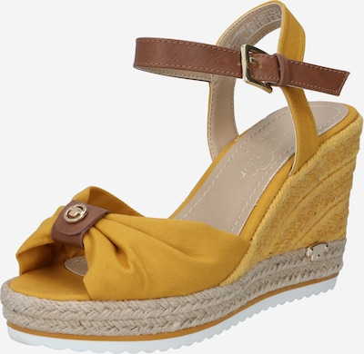 TOM TAILOR Sandal in Brown / Yellow, Item view