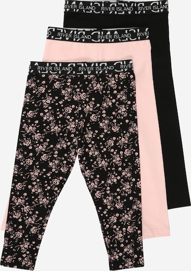 River Island Leggings in rosa / schwarz, Produktansicht