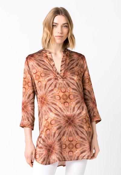 HALLHUBER Seidentunika mit Batikdruck in mischfarben, Modelansicht
