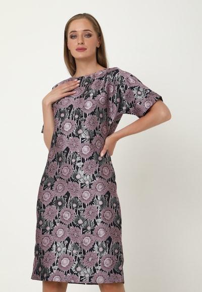Madam-T Kleid 'JUDY' in blau / grau / lila, Modelansicht