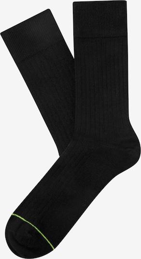 CHEERIO* Sokken 'Rib Companion' in de kleur Neongroen / Zwart, Productweergave