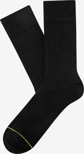 CHEERIO* Socks 'Rib Companion' in Neon green / Black, Item view