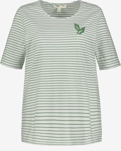 Ulla Popken Shirt in grün / weiß, Produktansicht