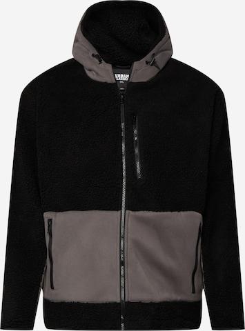 Urban Classics Big & Tall Between-Season Jacket in Black