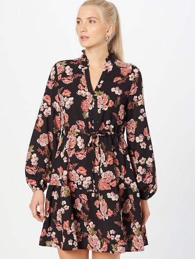 VILA Kleid in grün / pink / schwarz, Modelansicht